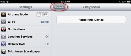 iPad-Bluetooth-screen-forget-device-bluetooth-arrow