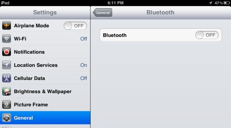 iPad-Bluetooth-screen