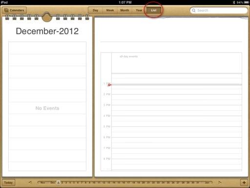 iPad-Calendar-List-View