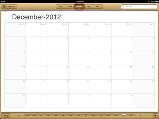 Monthly Calendar Views : Ipad calendar how to smart guide