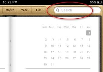 iPad-Calendar-Search-box