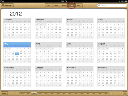 Calendar Year View : Ipad calendar how to smart guide