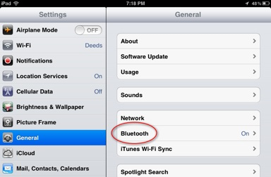 iPad-general-screen-bluetooth-on