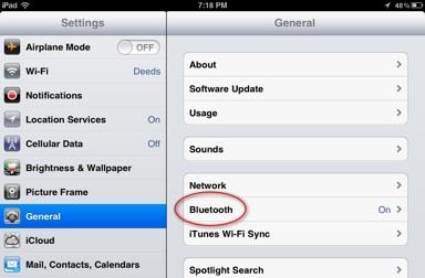 iPad-general-screen-bluetooth-on