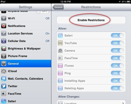iPad-restrictions-disabled-screen