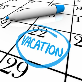 Calendar Vacation Day Circled
