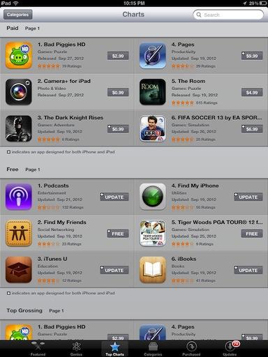 iPad-app-store-top-charts