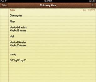 notes-measurements-information