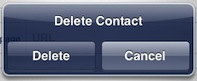 ipad address book delete confirmation