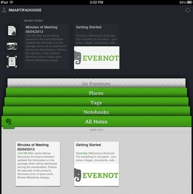iPad and Evernote