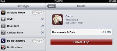 usage cards app