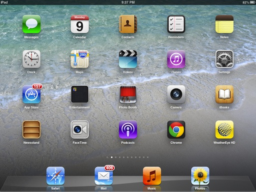 IPad Horizontal Screen