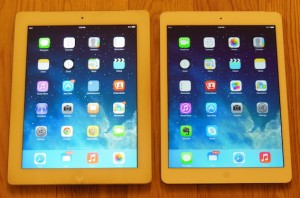iPad Training Courses, 2 iPads side by side