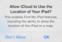 ipad-air-allow-icloud-to-use-the-location-of-your-ipad