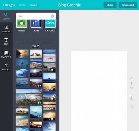 Canva App search example