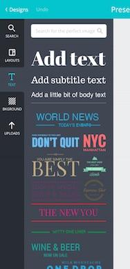 Canva App text example